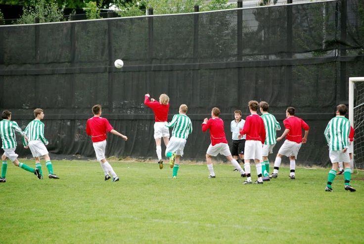 playing footbal