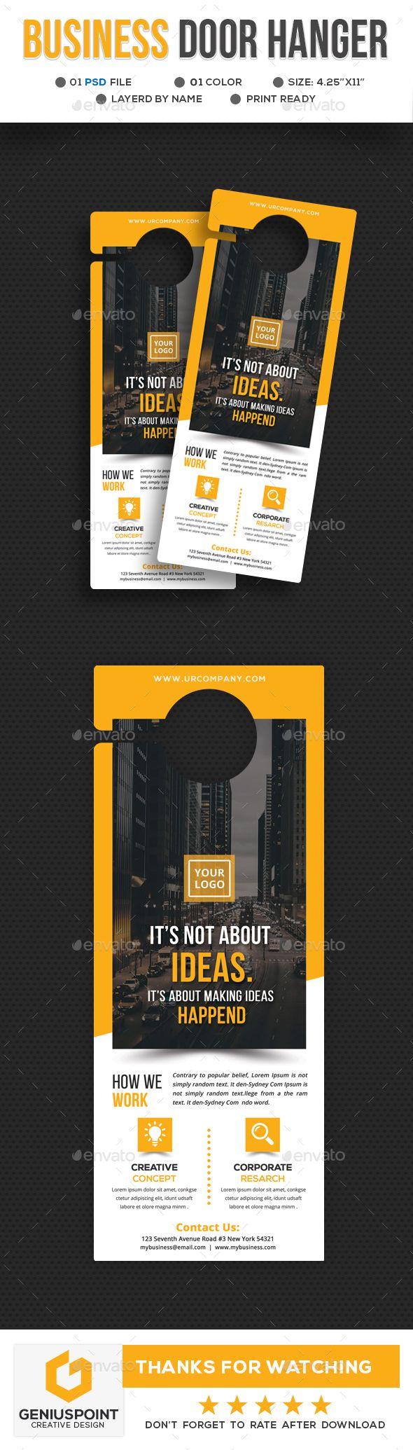 Business Door Hanger Template - Miscellaneous Print Templates