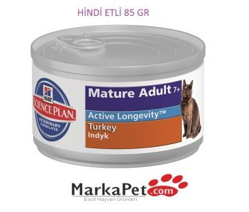 Hill's Mature Adult Hindili Yaşlı Kedi Konservesi 85 gr
