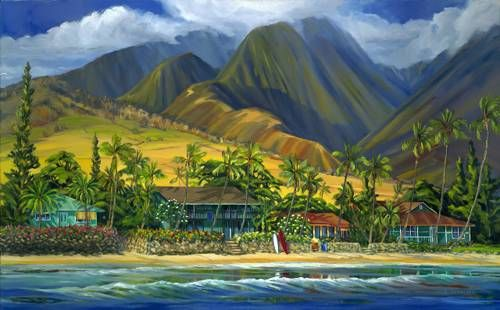 """""""Lahaina Blues II"""" by Janet Spreiter at Maui Hands"""