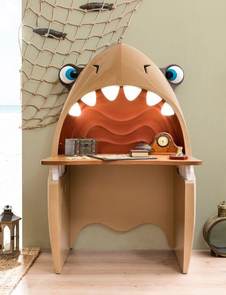 Детский рабочий стол в форме головы акулы с лампочками в виде зубов купить в интернет-магазине мебели https://lafred.ru/catalog/catalog/detail/37528577635/