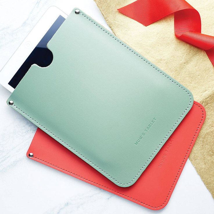 personalised leather sleeve for ipad by brit-stitch | - they do a burnt orange colour.