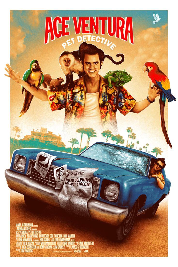 Ace Ventura Pet Detective 1994 2730 4096 By Adam Rabalais Cartazes De Cinema Cartazes De Filmes Filmes Comedia
