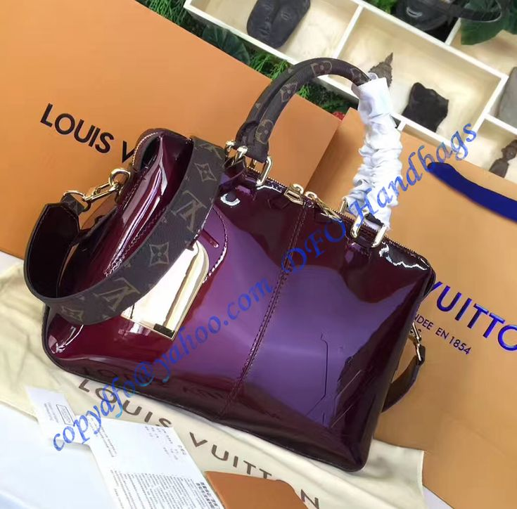 Louis Vuitton Vernis Lisse Tote Miroir Rose Red