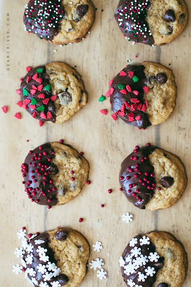 Chocolate Chip Christmas Cookies from @crissy