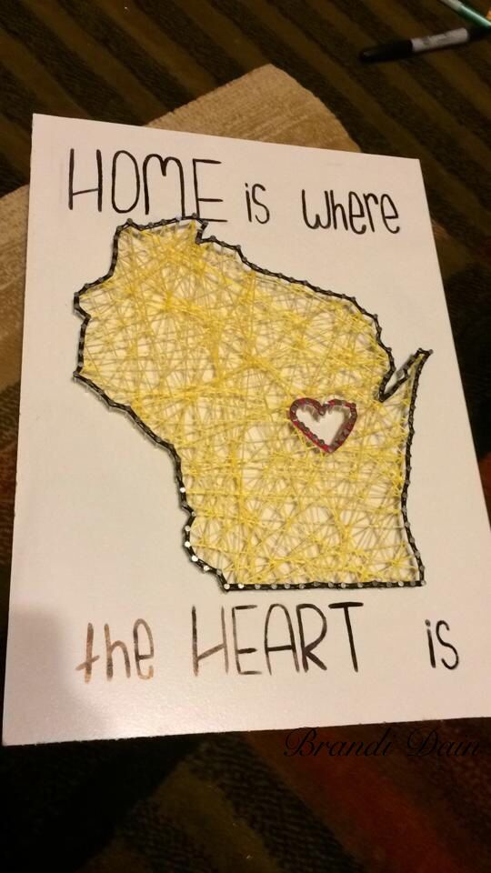 HOME is where the HEART is.  Wisconsin Nail and Yarn Art.   For Melano ❤️