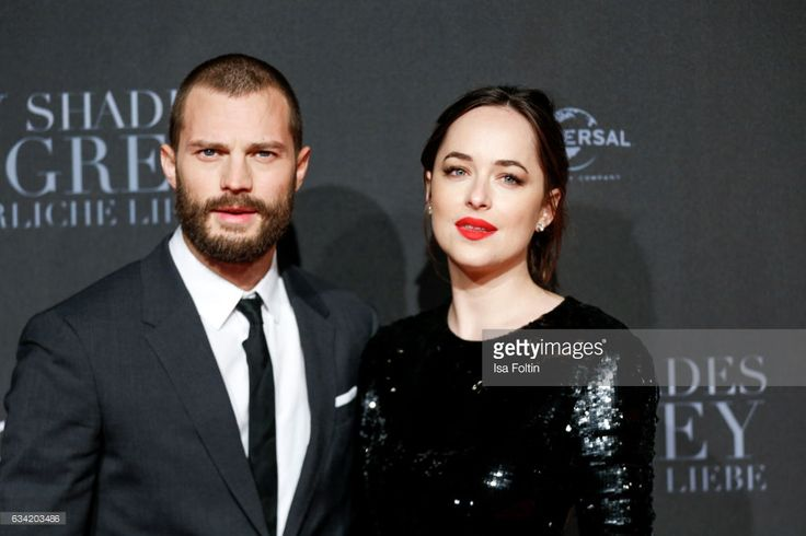 British actor Jamie Dornan and US actress Dakota Johnson (daughter of Melanie Griffith and Don Johnson) attend the European premiere of 'Fifty Shades Darker'(German title 'Fifty Shades Of Grey - Gefaehrliche Liebe) at Cinemaxx on February 7, 2017 in Hamburg, Germany.
