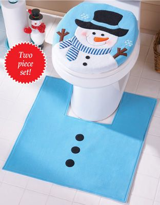 Frosty Friend Snowman Commode Set