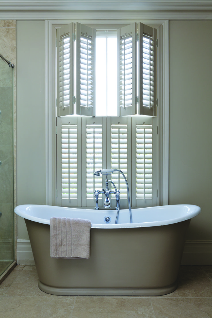 Shutter Decor Shower Curtain by Ambesonne, Graphic Illustration of Wooden Window  Shutters Traditional Country Style