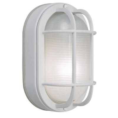H&ton Bay Wall-Mount Outdoor White Oval Bulkhead Light-HB8822P-06 at The  sc 1 st  Pinterest & The 78 best Non decorative lighting and electrical images on ...