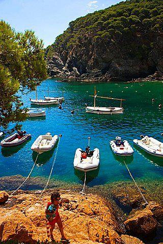 Sa Tuna beach, Begur, Baix Emporda, Costa Brava, Girona Province, Catalonia.