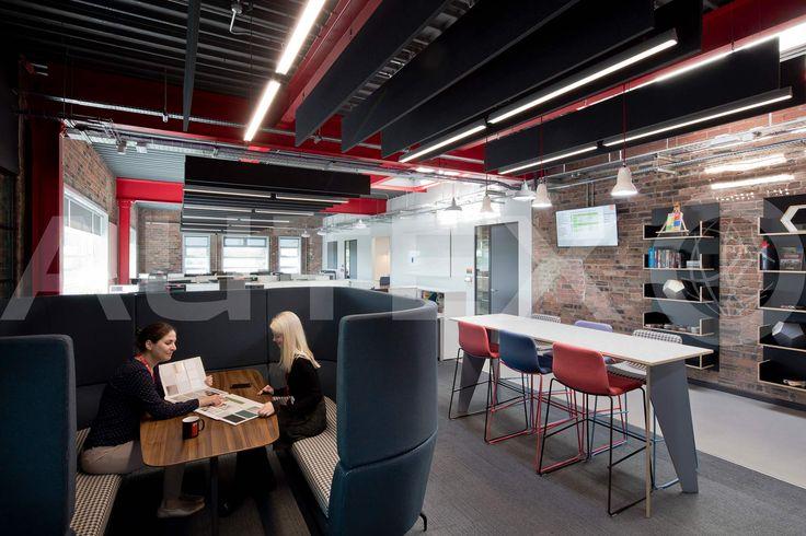 Autex Interior Acoustics - Quietspace® Frontier™  - Formica Head Office, London, UK - Colours: Empire - Modern Work Space