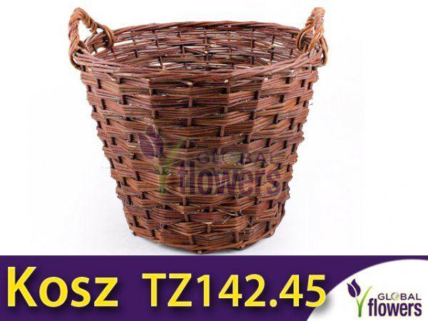 Praktyczny Wiklinowy kosz 45l TZ142.45 (na choinkę)