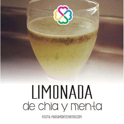 Limonada de chia y menta, endulzada con stevia. Un coctel de antioxidantes y omega 3. Si vas a tomar algo, que te nutra... Visita: http://www.mariamontemayor.com/#!el-arte-de-nutrir-tu-cuerpo/c19wa