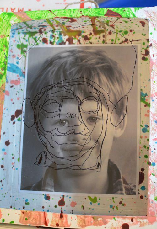 Art Adventures - Reggio Inspired Self Portrait Shadow Boxes - Meri Cherry