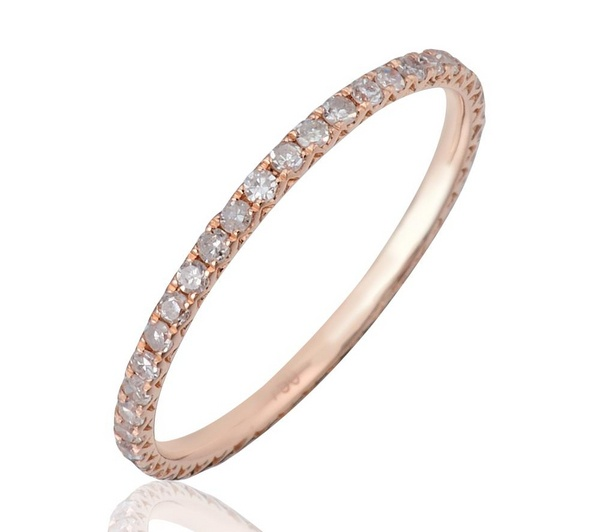 Christopher Page, this is the band that I want. ROSE & KARA Rose gold full eternity white diamond
