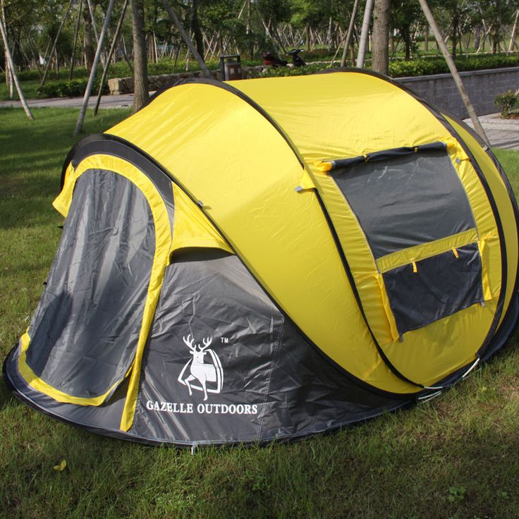 STAR HOME Waterproof Instant Pop Up Camping Tent 2 Seconds 3-4 Person Mosquito