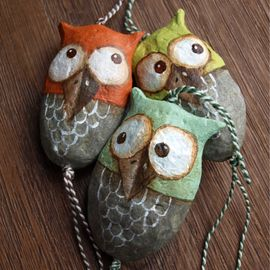 44 best clay rattles images on pinterest hand built for Diy paper mache owl