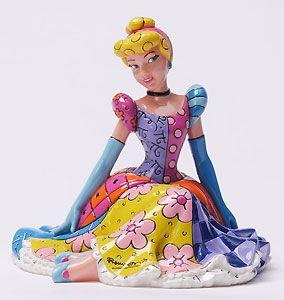 Cinderella - Cinderella Sitting - Britto - Romero Britto - World-Wide-Art.com - Disney #Britto #Cinderella #Princess