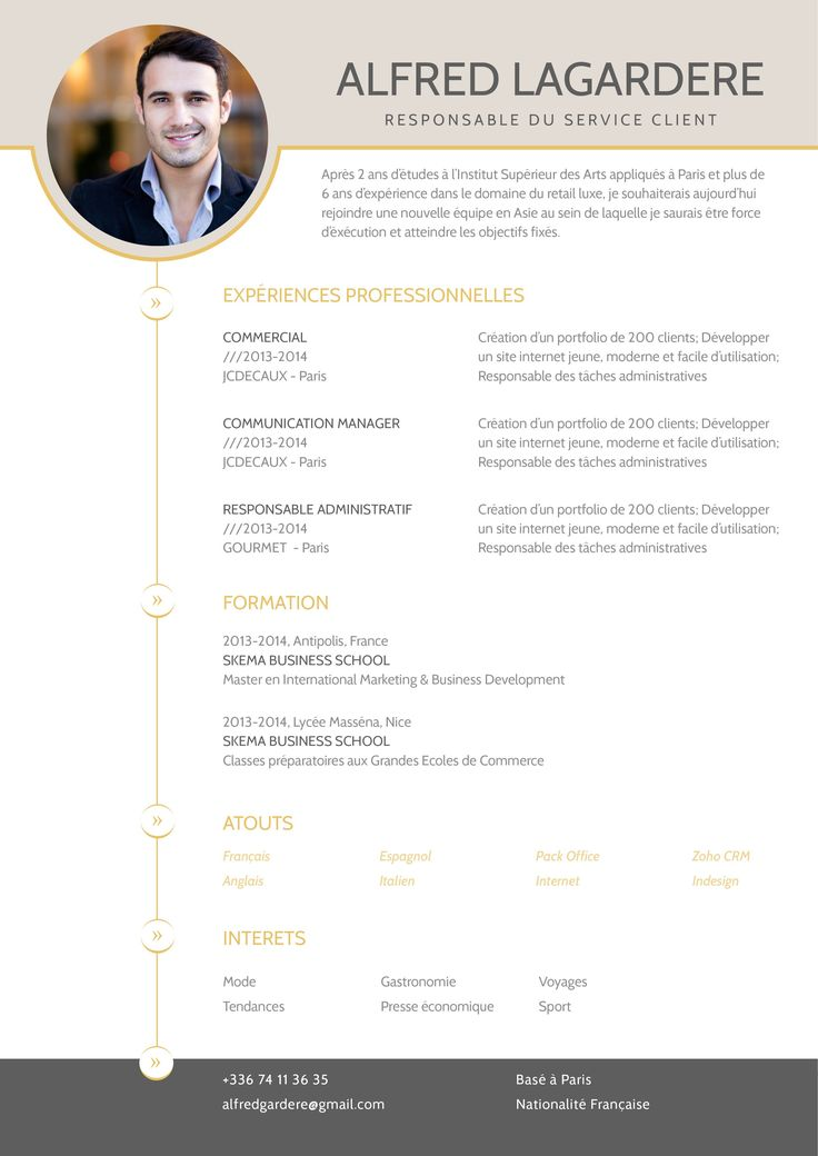 exemple de cv stage commerce