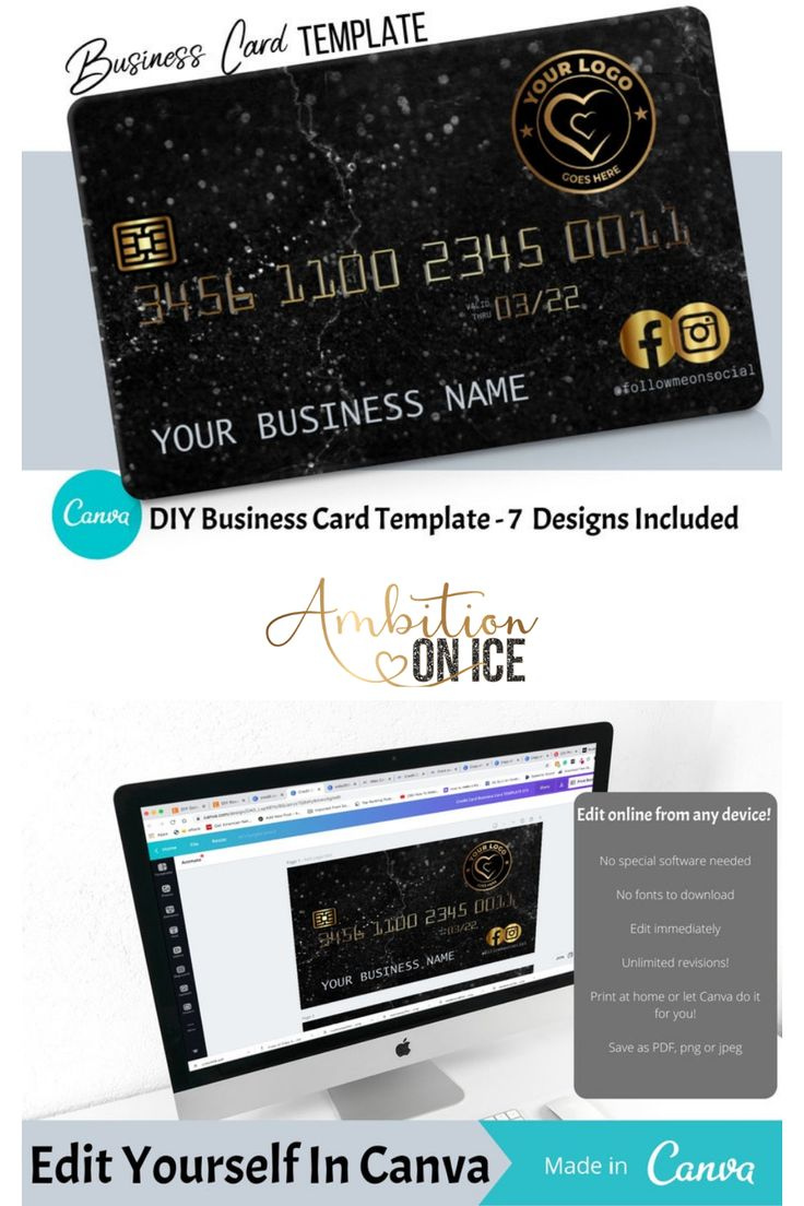 Diy Gold Black Marble Credit Card Business Cards Canva Template Business Card Design Appointment Card Loyalty Card Discount Code Business Card Design Business Card Template Design Business Cards Diy Templates