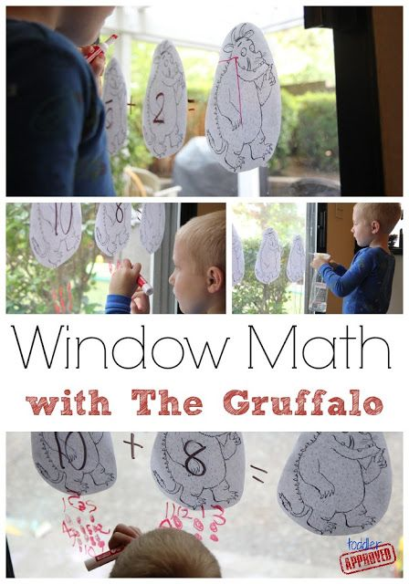 Window Math with The Gruffalo from Toddler Approved!
