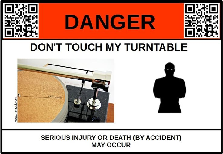 Protect your turntable, friendly label