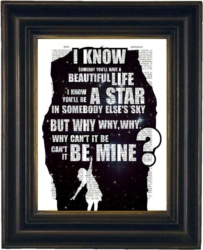 Pearl Jam Black  Song Lyric Print on repurposed by ForgottenPages, $8.00