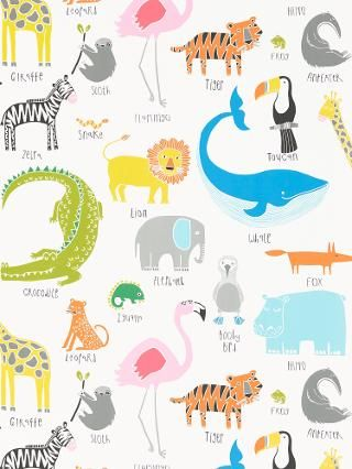 Buy Scion Animal Magic Wallpaper | John Lewis
