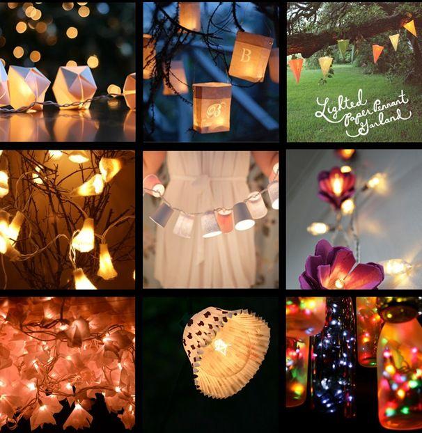 guirnaldas y luces