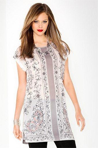Tunic Tops | Shop Summer Dresses Online - Emerge Scarf Print Tunic - EziBuy Australia  $69