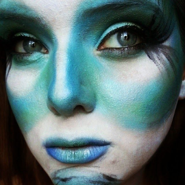 maquillaje de oruga