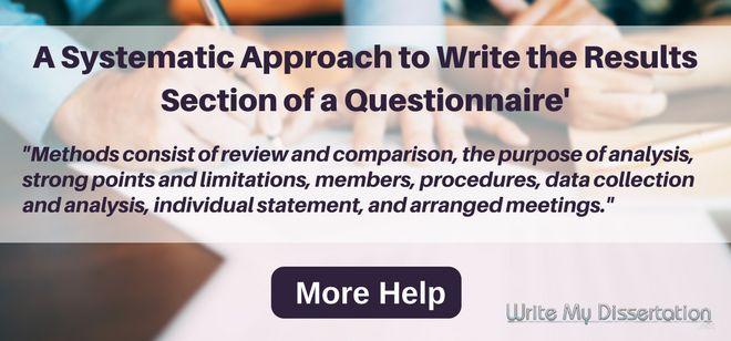 Dissertation questionnaire help