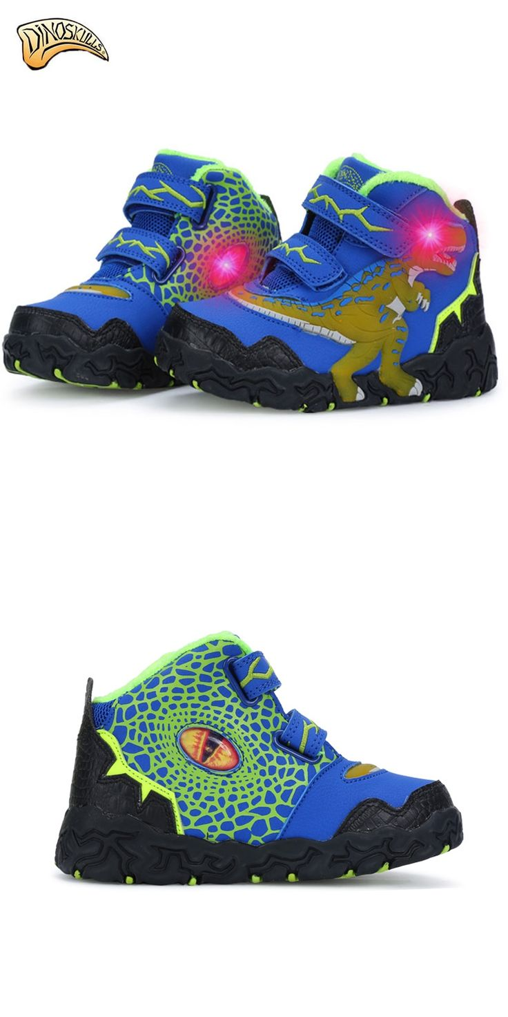 Dinoskulls kids sneakers brand lights for boys led shoes luminous 2017 Breathable sport shoes tenis infantil 3D dinosaur shoes