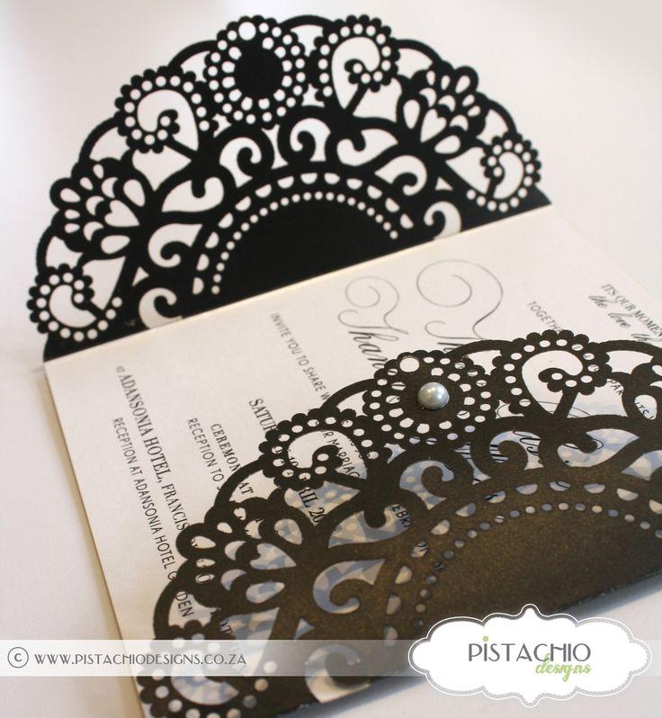 Elegant laser cut wedding invitation-stunning for a classic wedding