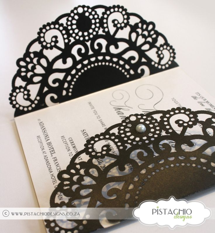 Elegant laser cut wedding invitation-stunning for a classic wedding
