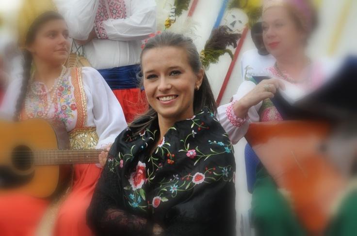 Russian dancer strikes a pose...