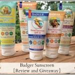 Badger Sunscreen {Review and Giveaway}