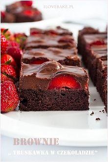 Zobacz zdjęcie Brownie truskawka w czekoladzie