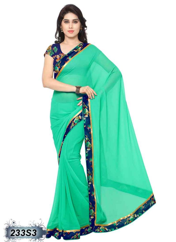 Creative Green Coloured Georgette Saree
