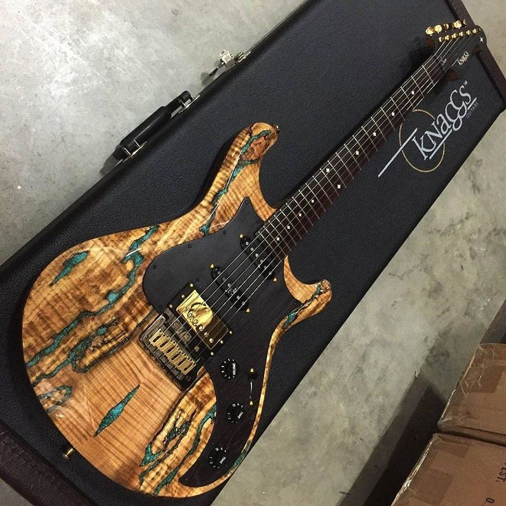 Knaggs Guitars Severn T2 Trem HSS Spalt Maple top with Chrysocolla stone inlay