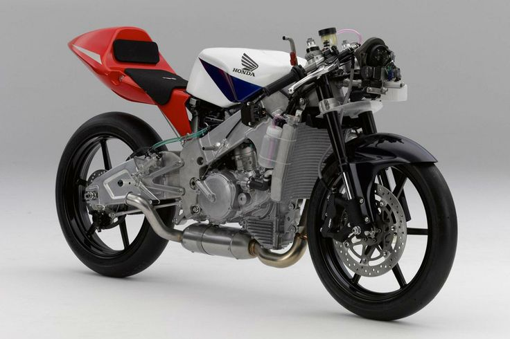 Honda NSF250R Moto3 racer, without bodywork.