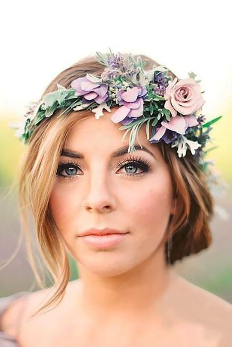 18 Gorgeous Blooming Wedding Hair Bouquets