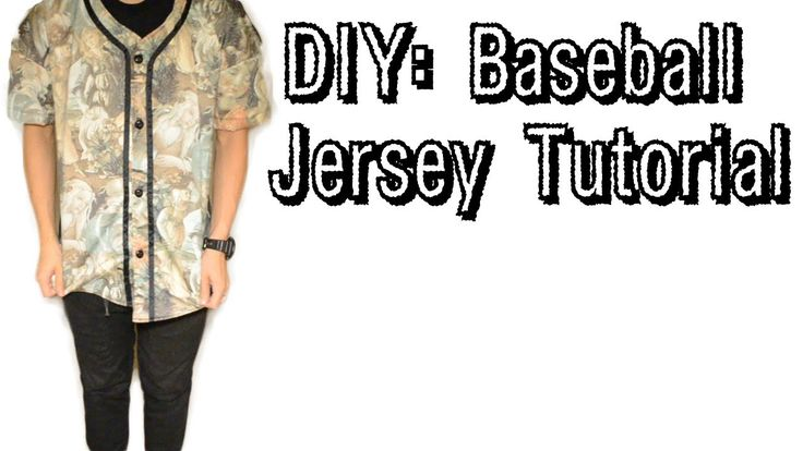 "DIY: Baseball Jersey Tutorial | More of a fashion baseball jersey than a true sports uniform but still ""dope"" (thank you Urban Dictionary)."