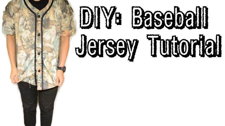 DIY: Baseball Jersey Tutorial Commissions Pinterest ...