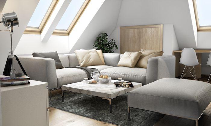 mansardenzimmer wohnzimmer wohnbereich in der maisonette großes ...
