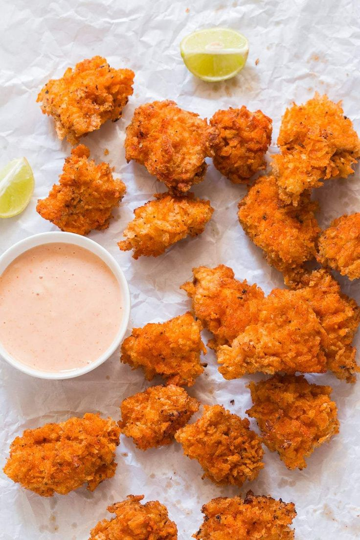 These KFC style spicy popcorn chicken bites taste just like the real thing and disappear in minutes! Easy, crunchy and perfectly spiced.