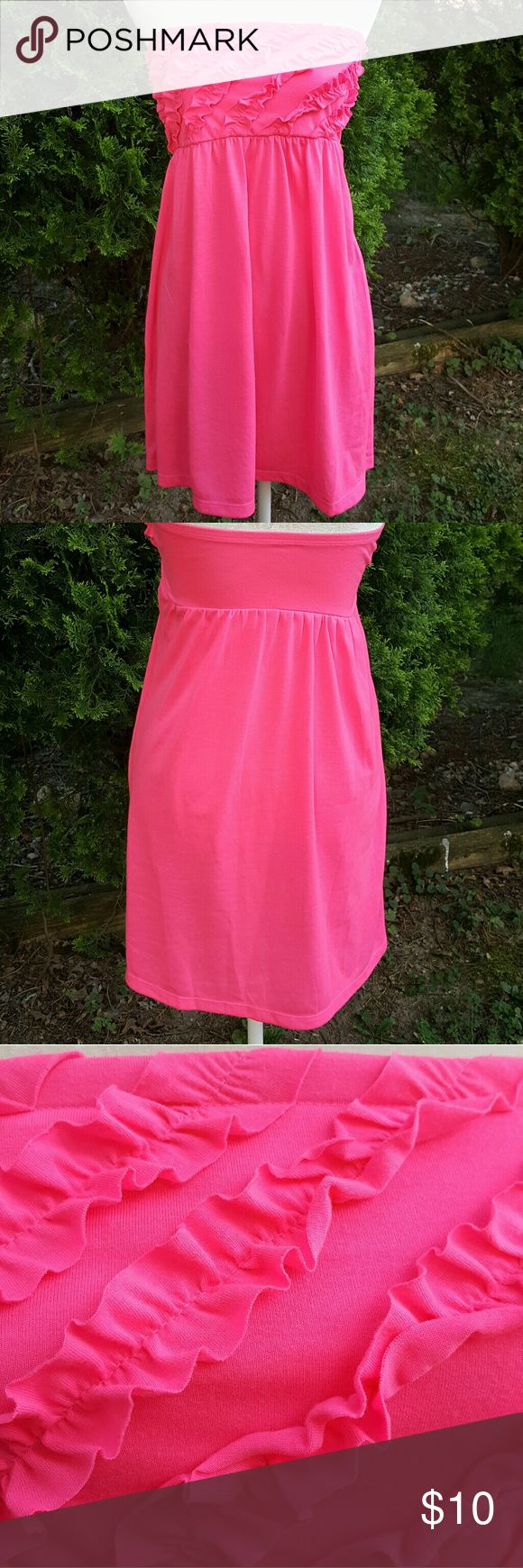 Ocean Pacific swimsuit cover-up Ocean Pacific swimsuit cover up dress -  hot pink -  size large juniors like new condition little Ruffles on the front. Ocean Pacific  Swim