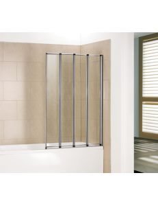Шторка для ванной RGW SC-23 80x150 стекло прозрачное, профиль хром