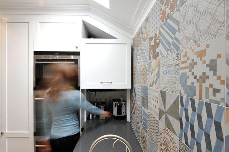eat.bathe.live :: middle park kitchen designed by eat.bathe.live with lift up appliance cupboard